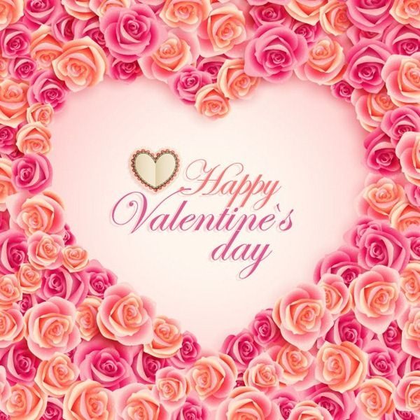 Pink Roses Valentine\'s Day Card! Thank you, my dear @Shandell ...