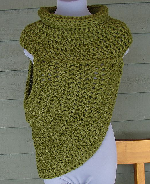 Relaxed Half Sweater Wrap Katniss Hunger Games Pattern By Yarn Me Silly Wrap Style Hunger