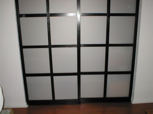 Charmant DIY Shoji Style Sliding Closet Doors, From Scratch. (CORRUGATED PLASTIC And  POPLAR )