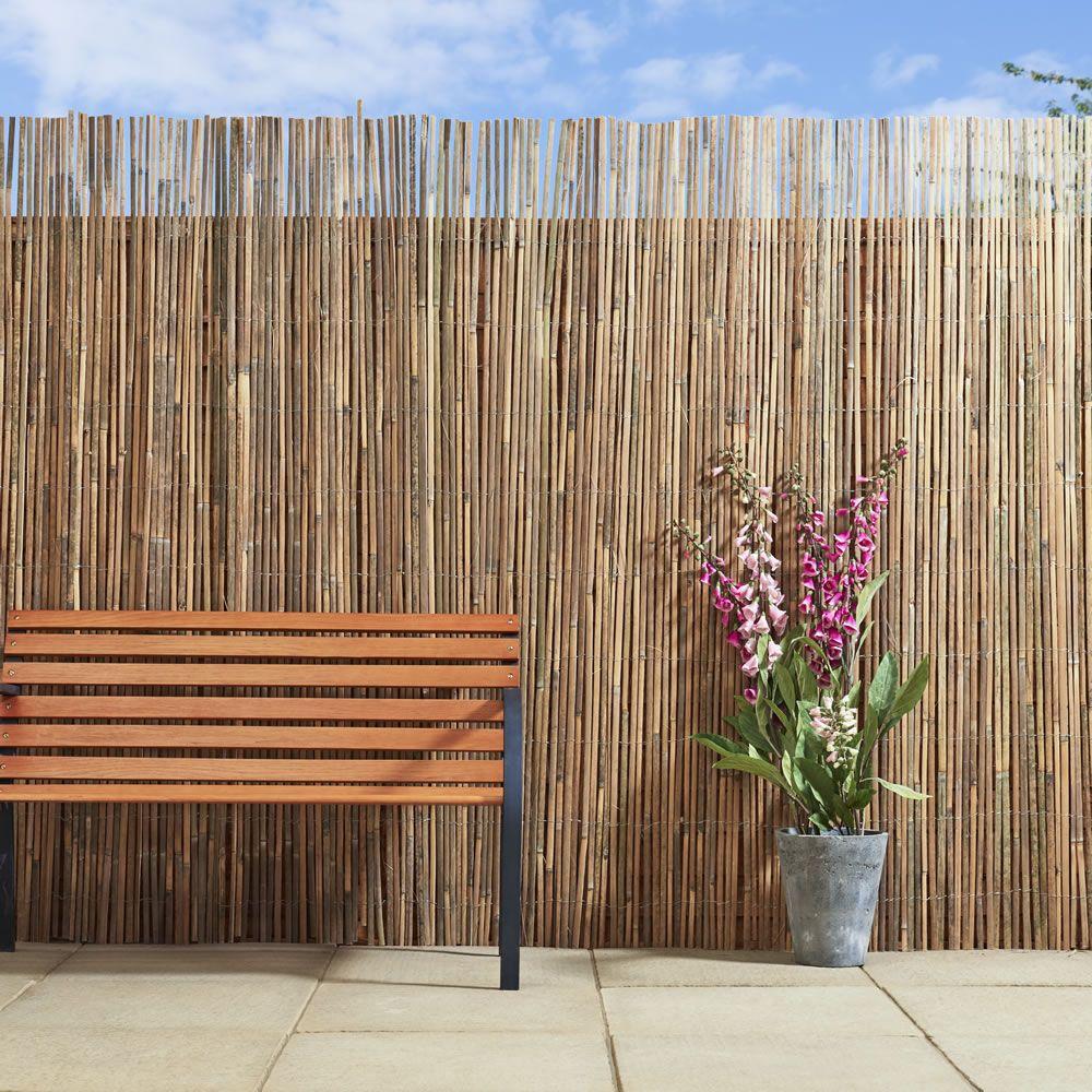 Wilko Bamboo Garden Fences Bamboo Fence Bamboo Garden