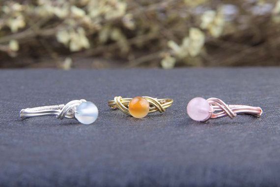 Casual Womens Crystal Ring SilverRose GoldGold Silver Plated Wire
