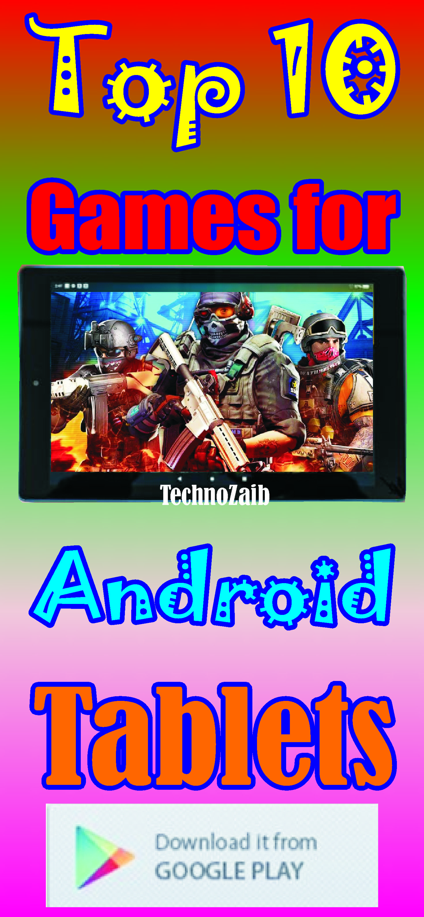 A list of the top ten games available online for Android