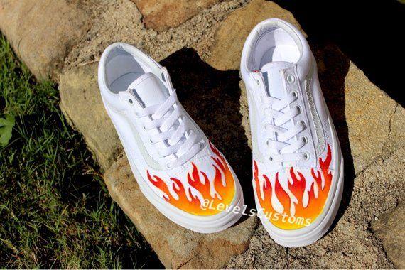 40a81b2bbb7 Fire Flame Custom Vans