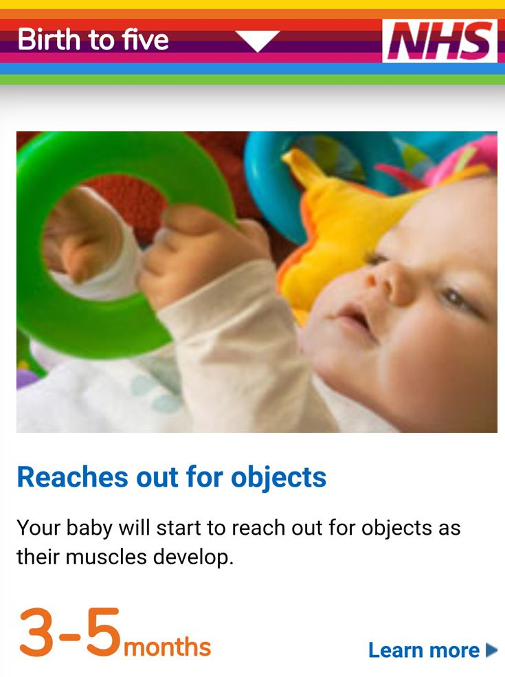 NHS child development timeline for babies, toddlers and pre ...