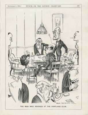 1924 Hm Bateman The Man Who Revoked At The Portland Club Cartoon : Pictorial Gems!