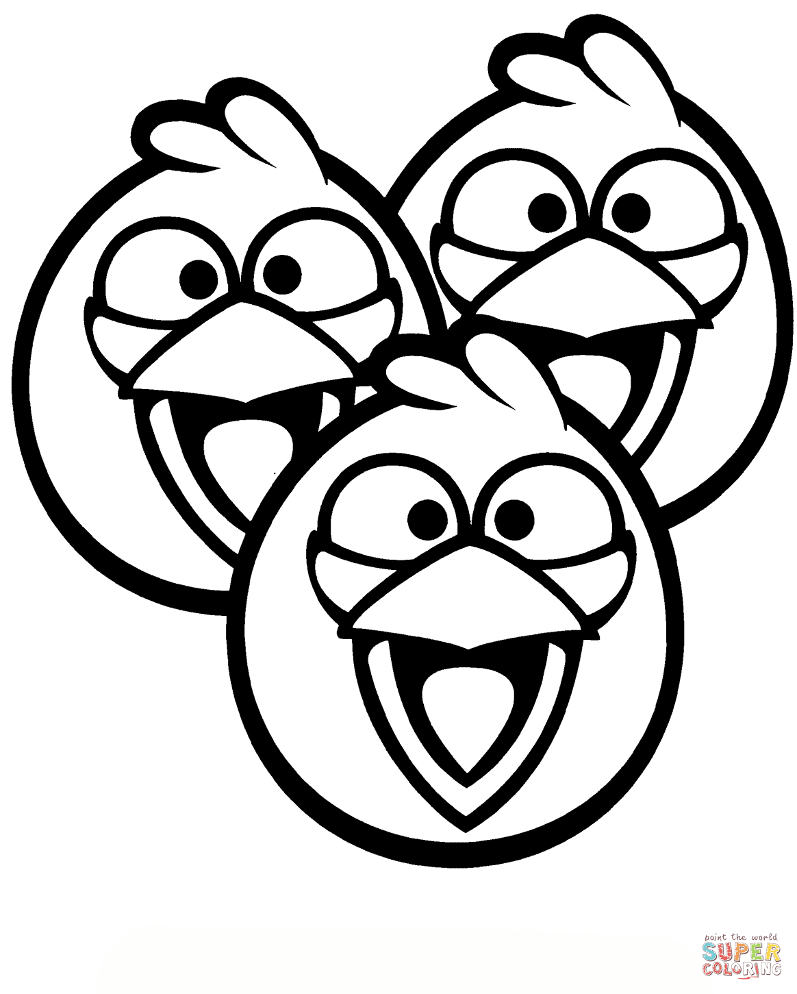 Angry Birds Blue Bird Coloring Pages