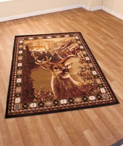 New Rustic Country Cabin Wildlife Decor Deer Buck Round Rug Home Decor 59 X 79 Wildlife Decor Rugs Clearance Rugs