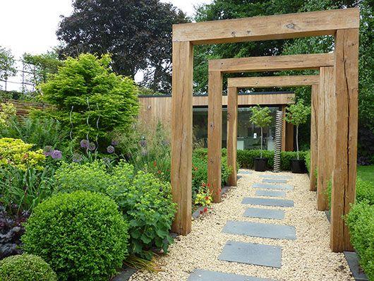 wide shallow garden design - Google Search | Garden Ideas ...