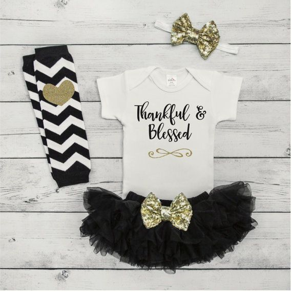 nice Baby Girl Thanksgiving Outfit Baby First by BumpAndBeyondDesigns...