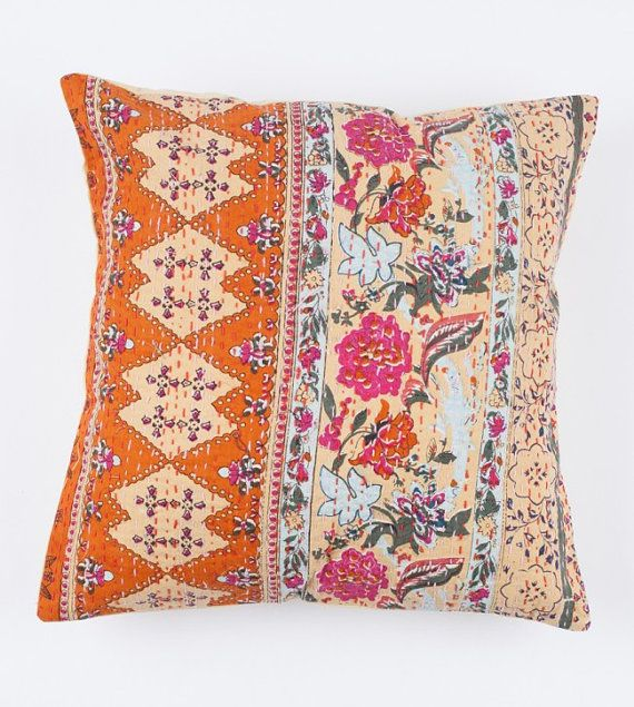 Beautiful Floral Orange 40x40 Pillow Cover 40x40 Pillow Covers Inspiration Etsy Pillow Covers 20x20