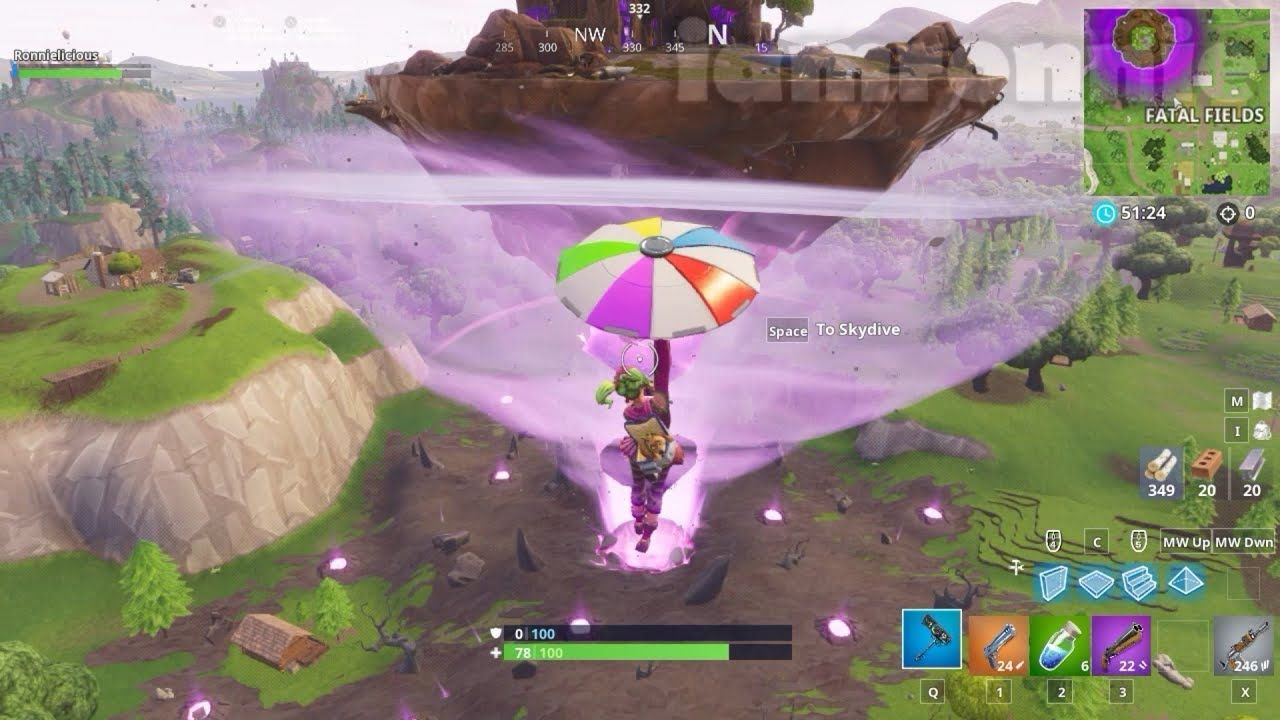 Fortnite Floating Island Cube Event In Fatal Fields Gamer News