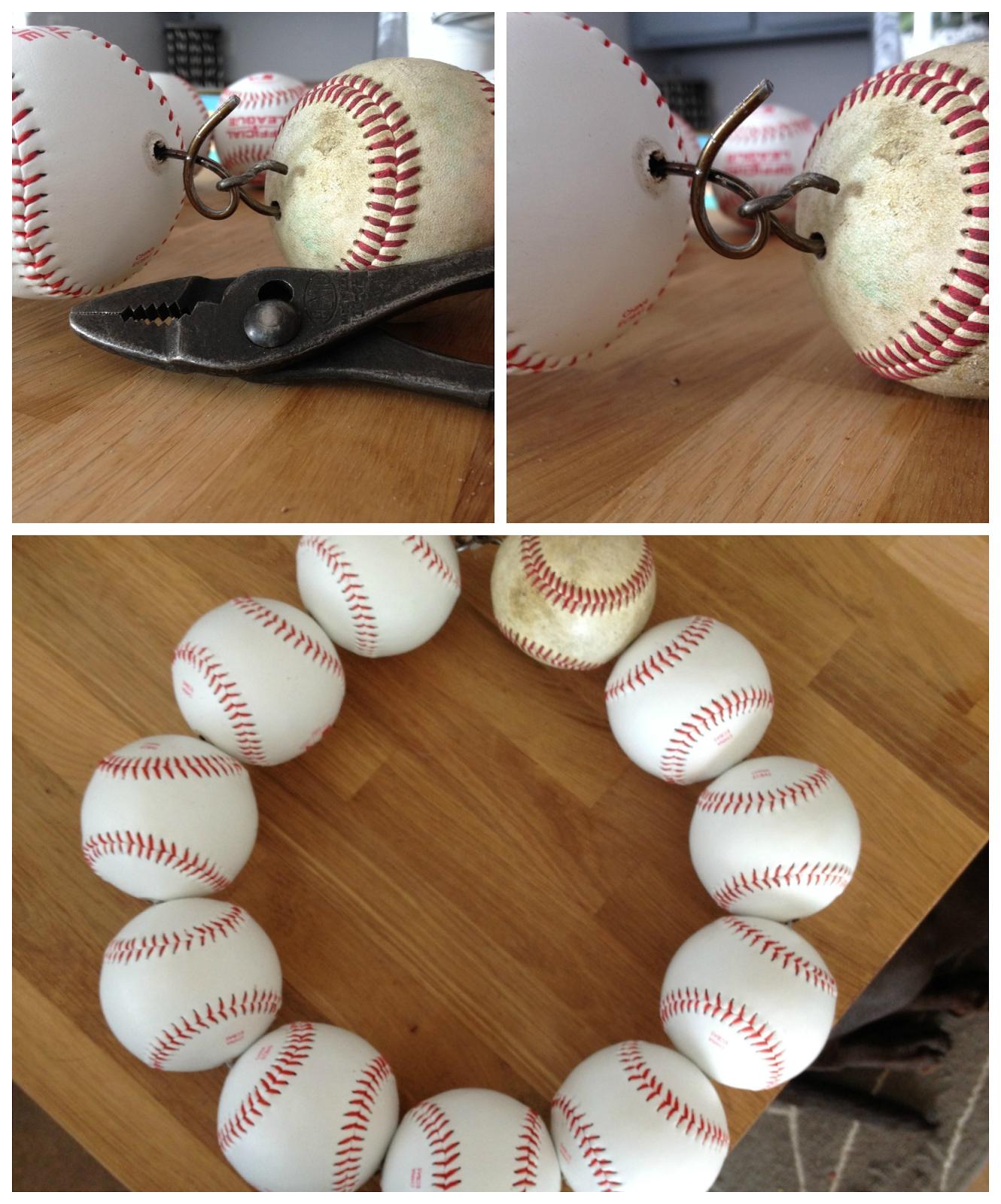 Baseball wreath. easy DIY craft. Baseball season décor ...