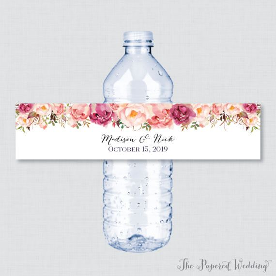 Printable OR Printed Wedding Water Bottle Labels
