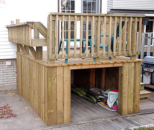 Dig instant get under deck shed ideas upper deck with for Garden shed on decking