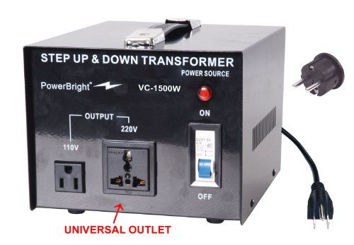 Power Bright Vc1500w Voltage Transformer 1500 Watt Step Up Down Converter 110 120 Volt 220 240 Volt Power Bright Series Of Step U Transformers Bright Trans