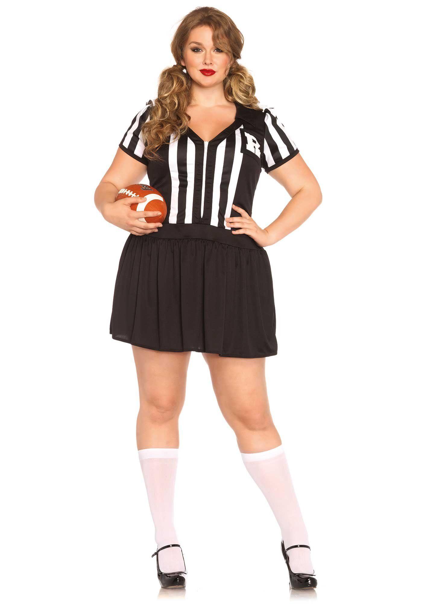 Leg Avenue Women's Plus-Size Halftime Hottie Referee Costume ...