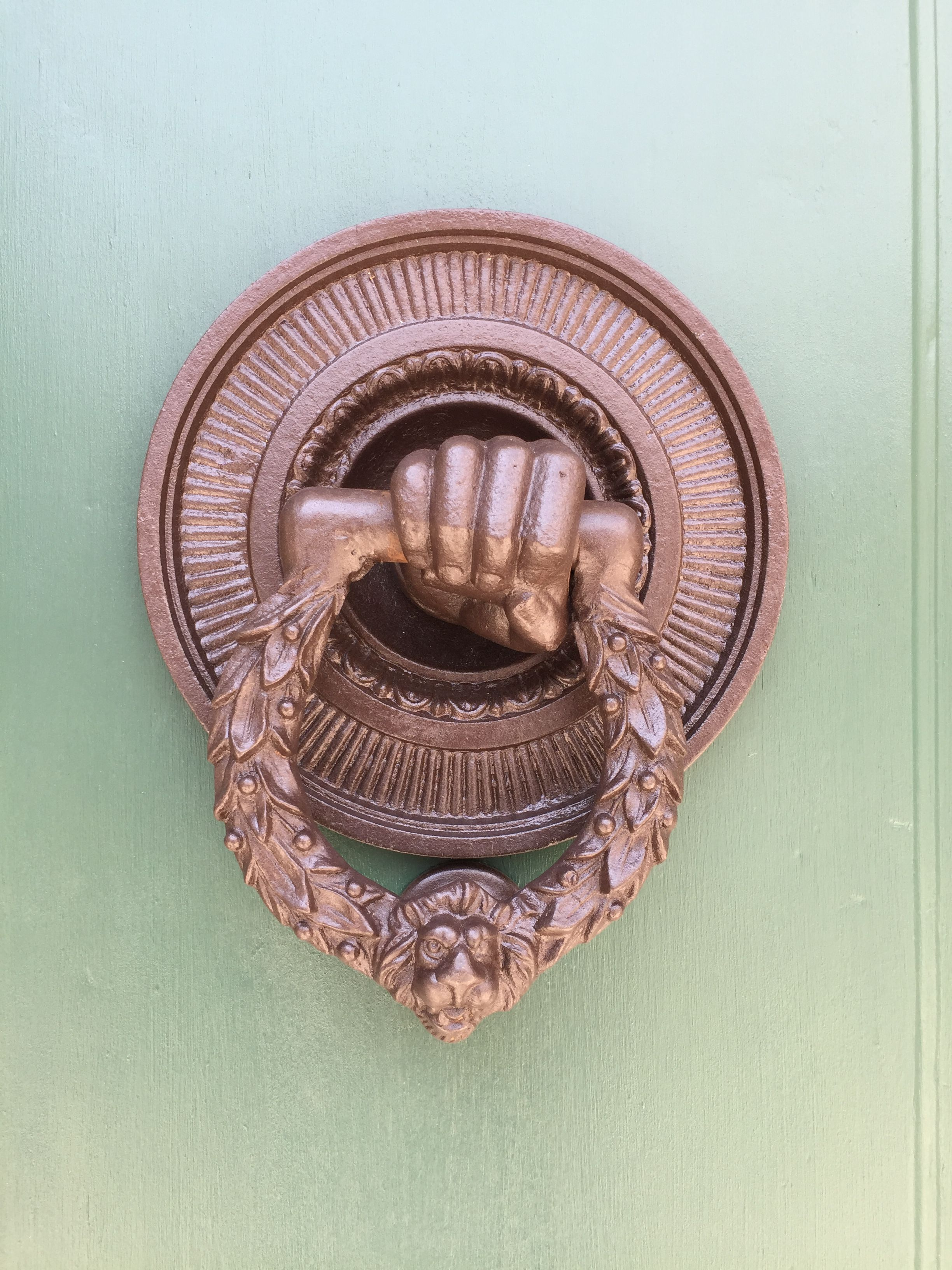 Fist door knocker my definition of art pinterest color