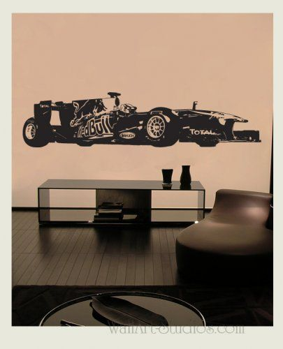 Formula Red Bull F Wall Art Sticker For All The F Fans Wall - Formula 1 wall decals