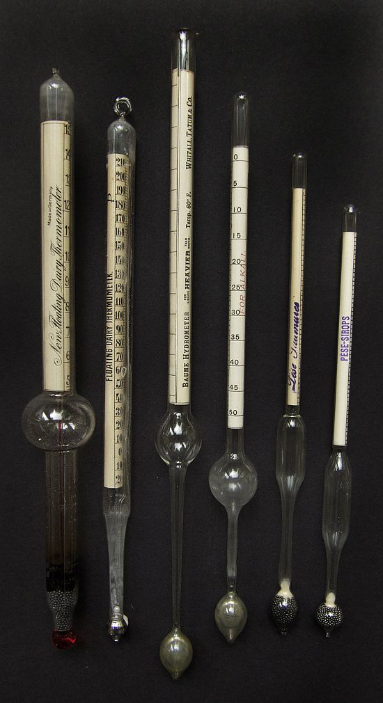 Hydrometers - A hydrometer can be used to determine the density of water. It was invented by Leonardo da Vinci