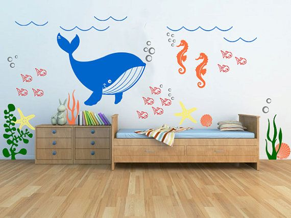 Underwater theme vinyl decal kids room