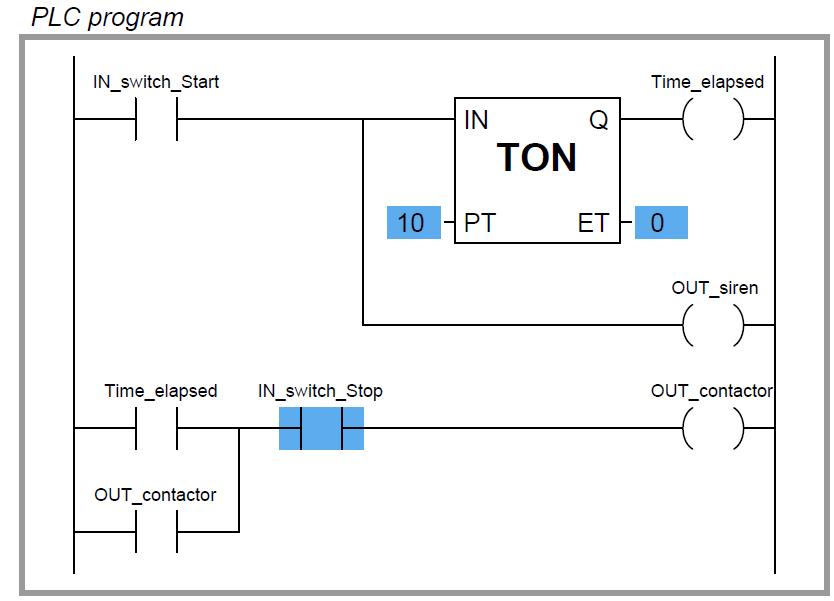 Plc Timer Program Ladder Logic Plc Programming Timer