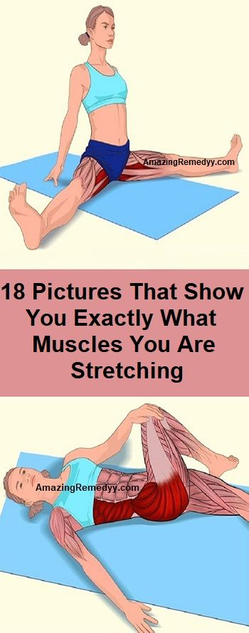18 Pictures That Show You Exactly What Muscles You Are Stretching Exercise Workout Health Fitness