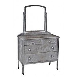 1930 S Vintage Simmons Bedroom Dresser With Original Adjule Mirror Metalfurniture