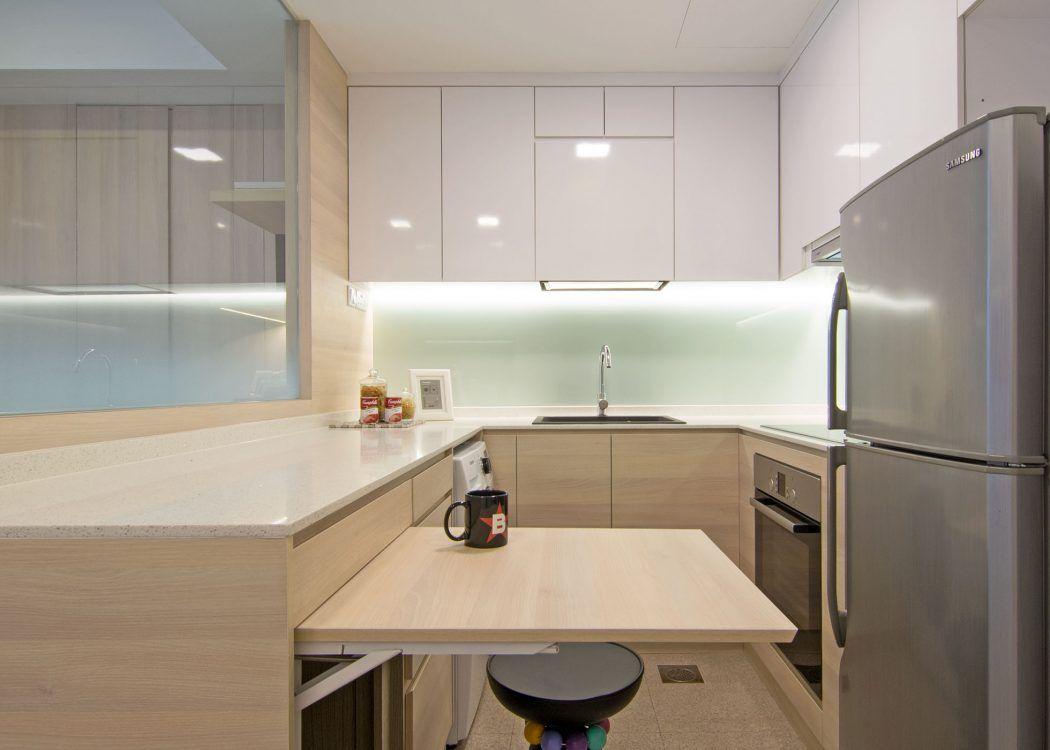 Studio Apartment By Vievva Designers Detalle Desayunador Levanta  # Budnik Muebles De Cocina