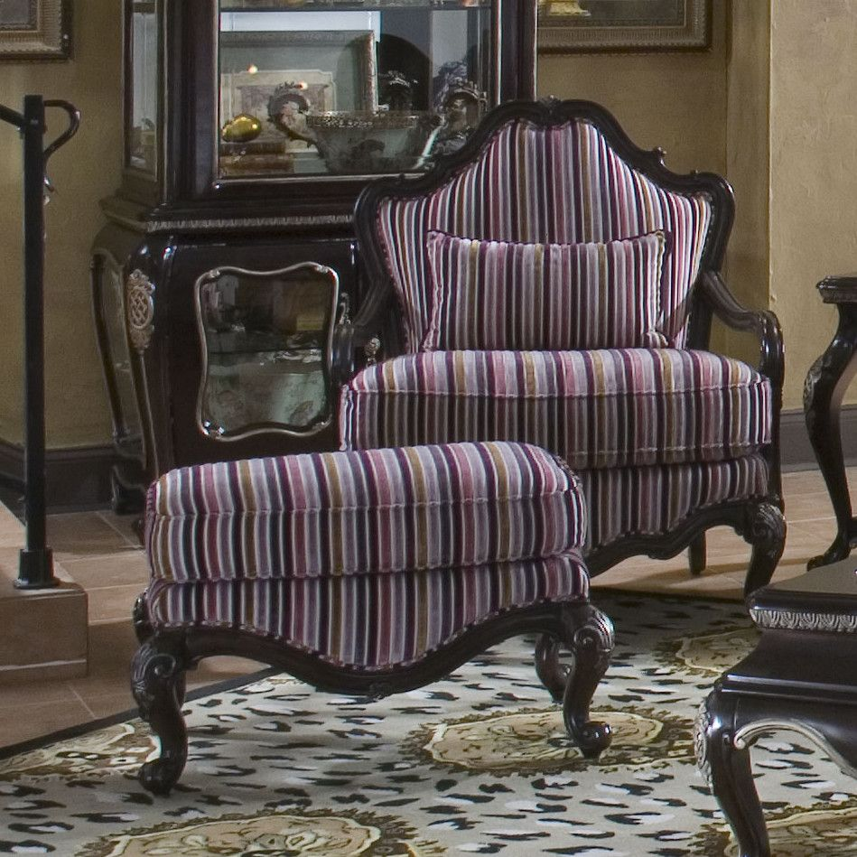 Bergere chair and ottoman - Aico Lavelle Bergere Chair And Ottoman