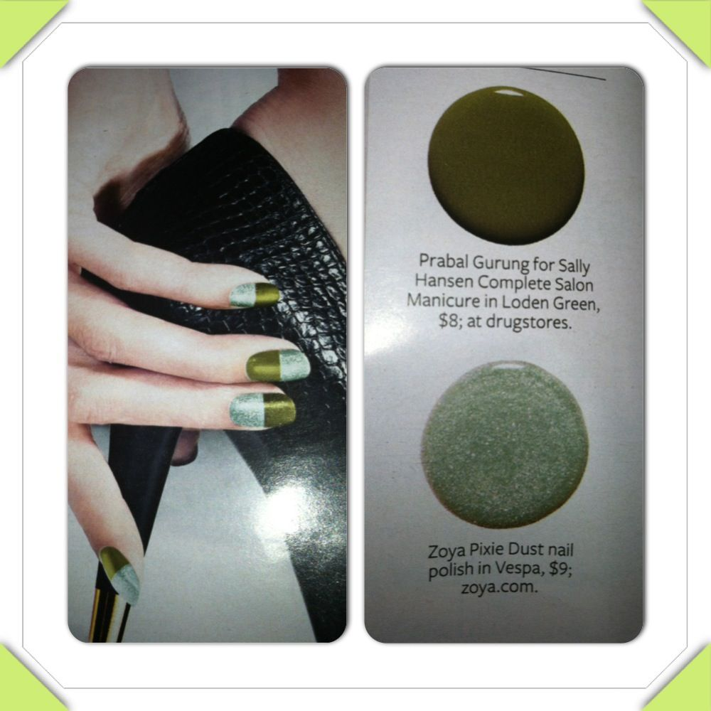 Two tone nails from instyle magazine beauty pinterest instyle