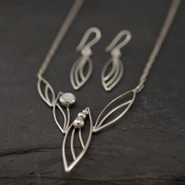 Argentium Sterling Silver Pearl Petals Set of Earrings s& Matching ...