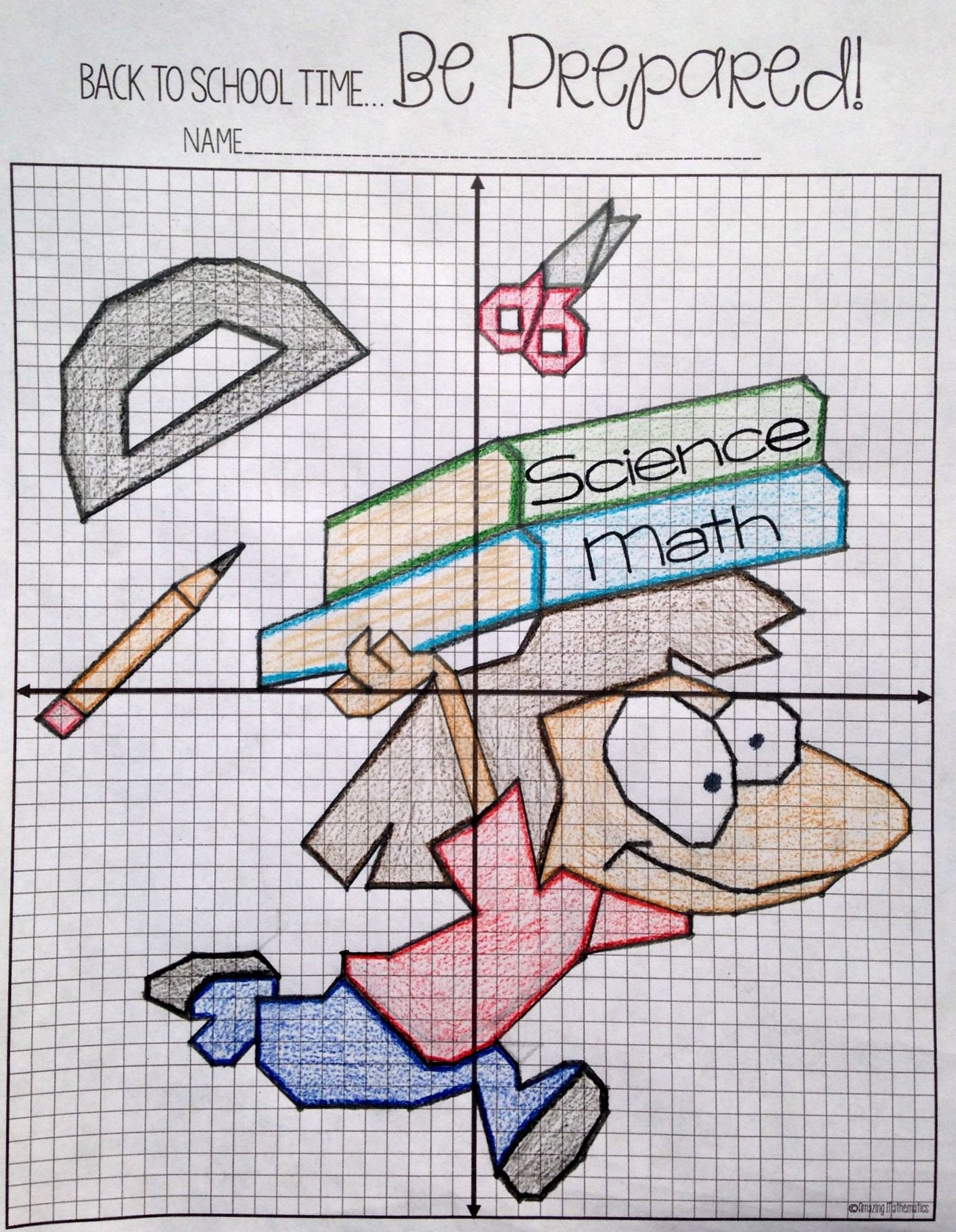 Back to School Plotting Points - Mystery Picture | Pinterest | Math ...