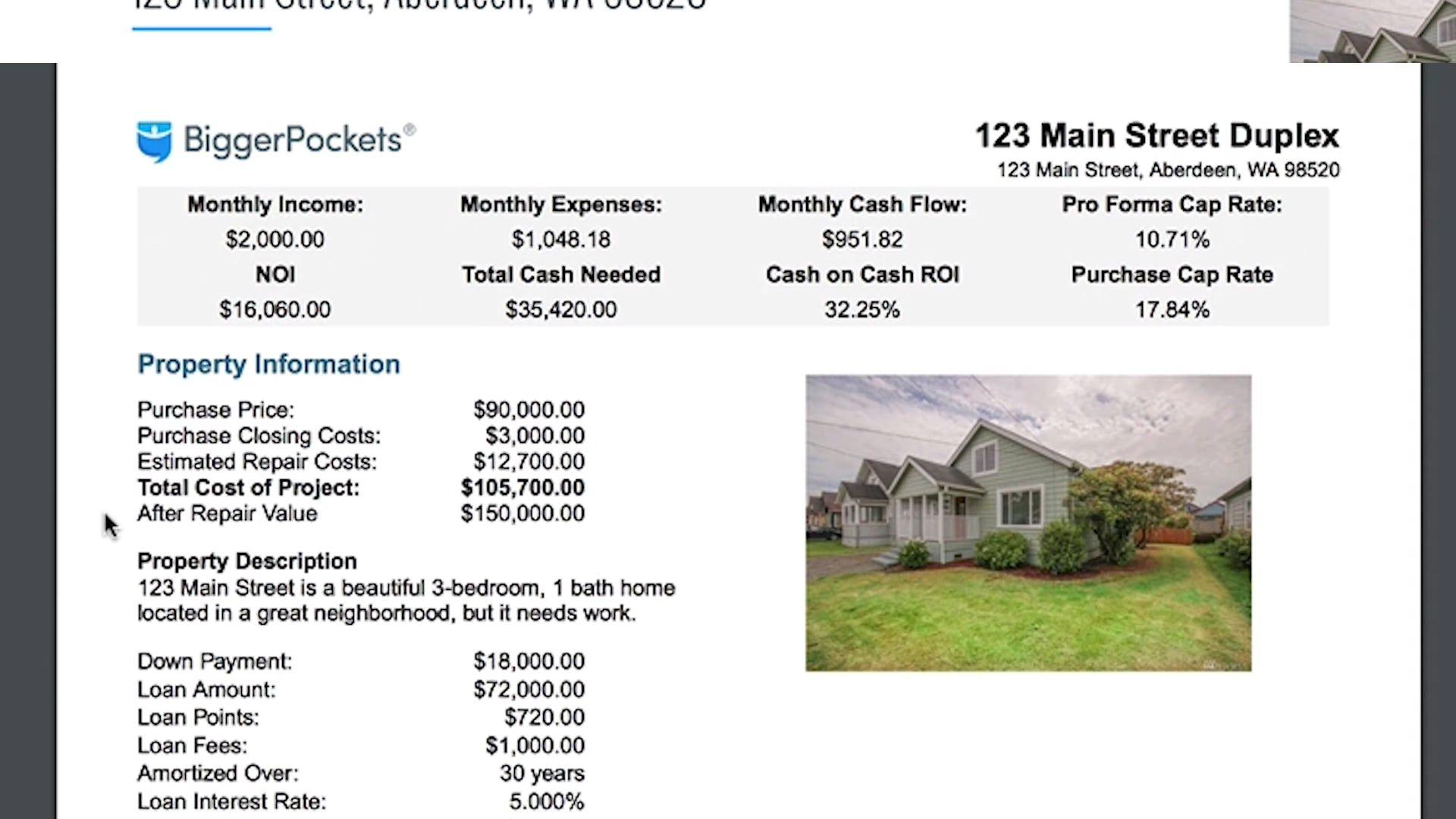 Rental Property Calculator Quick Overview Rental
