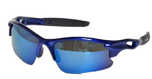 a6c13c941ab1 Real Kids Shades Sweep Polycarbonate White Blue Mirror Lens 7+ Royal  Sunglasses. 100%