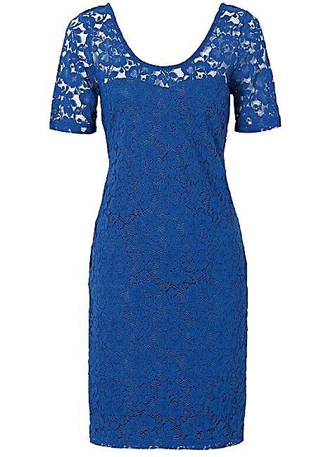 Sukienka Koronkowa Bodyflirt Niebieska S M Bcm Dresses With Sleeves Fashion Dresses