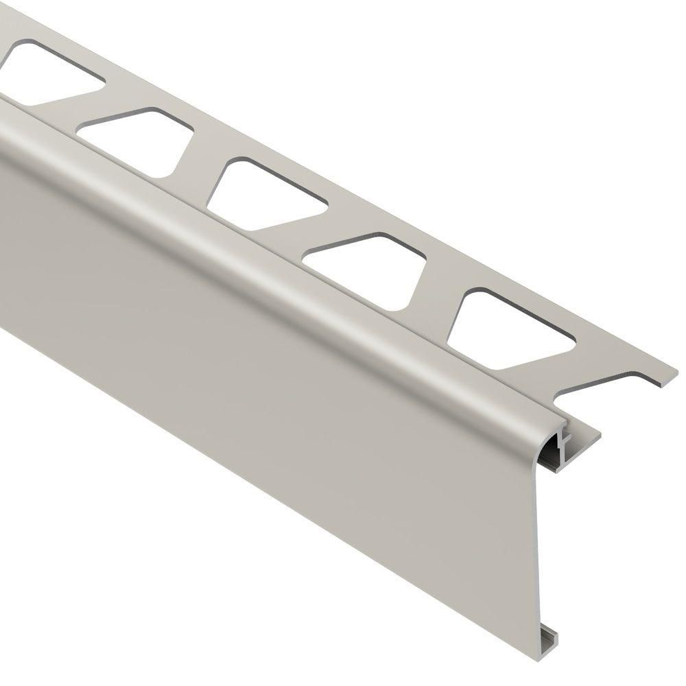 Schluter Rondec Step Satin Nickel Anodized Aluminum 3 8 In X 8 Ft