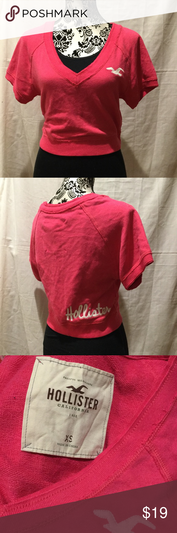 Hollister Shirt Hollister Shirt Size XS Color Pink.This item have been worn but has no visible signs of wear in Excellent Condition. Hollister Tops Tees - Short Sleeve