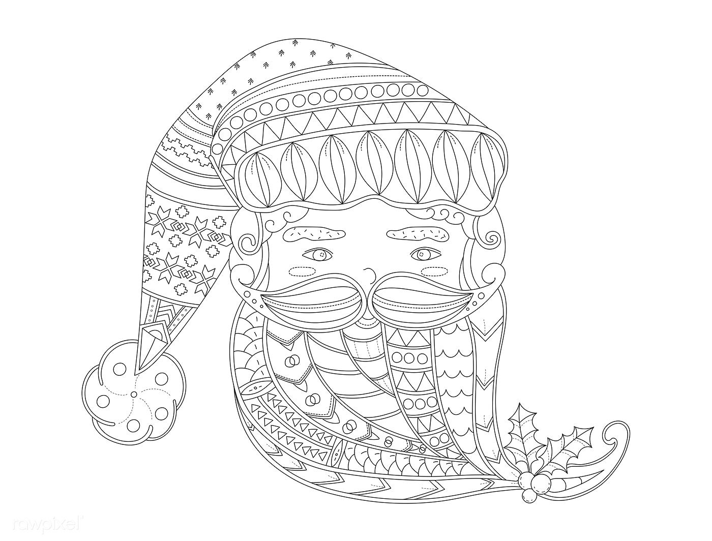 Santa Claus' face vector free image by