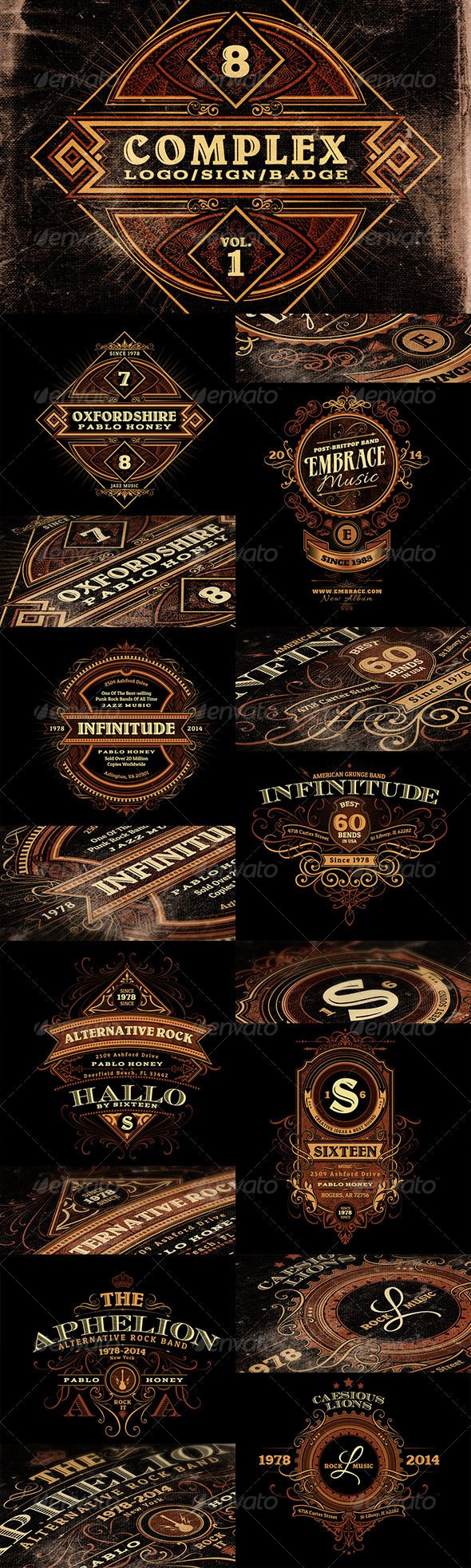 Complex Logos/Signs/Badges v.1   Tipografía