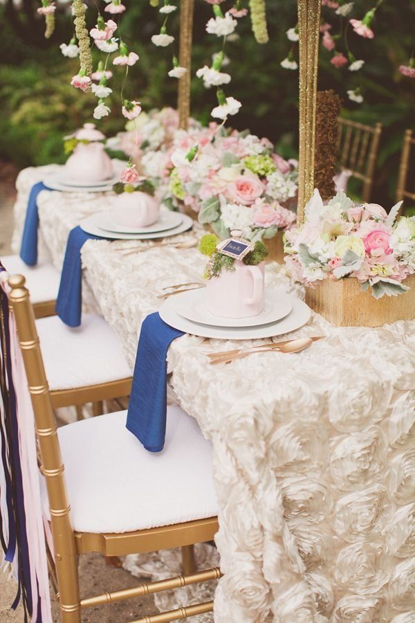 Superb Outdoor Bridal Shower Decoration Ideas Part - 12: Garden Bridal Shower Ideas Table Decoration Ideas Floral Centerpice  Beautiful Tablecloth