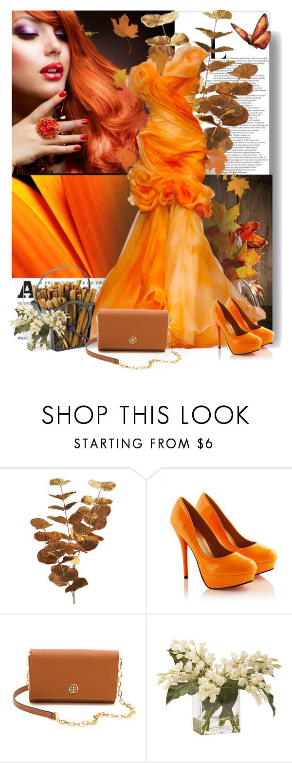 """""""Orange in October"""" by colierollers ❤ liked on Polyvore featuring Pier 1 Imports, Tory Burch and Ethan Allen"""