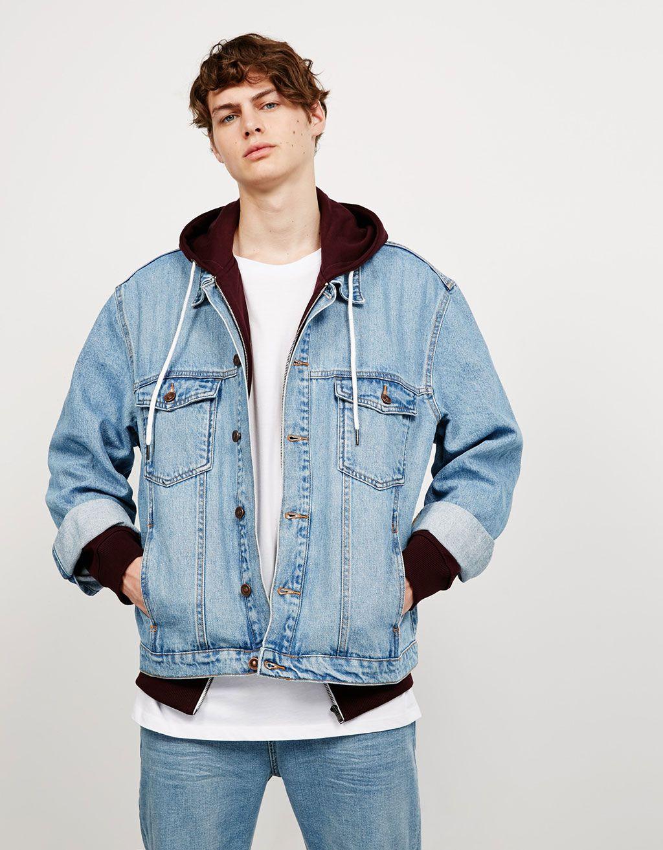 Bershka jeans jacke schwarz