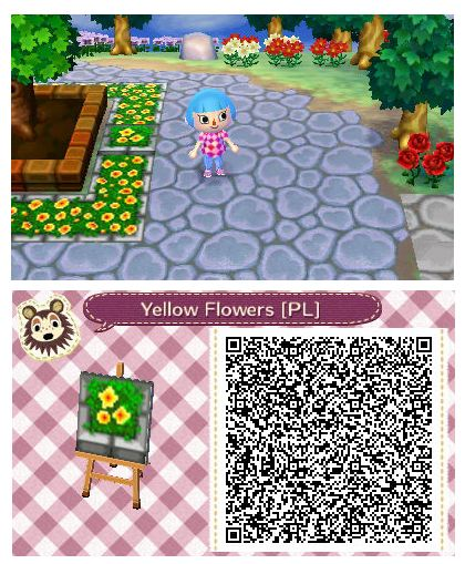 Yellow Flower Planter By Quirkberry Animal Crossing New Leaf