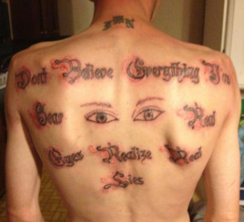 Bad Tattoos: 16 Really Stupid & Awful