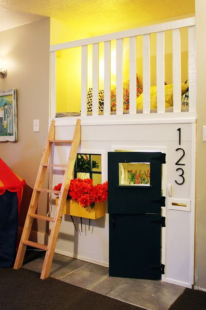 indoor playhouse in fireplace nook | DIY Ideas | Pinterest | Indoor ...