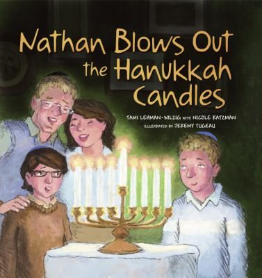 Cover image for Nathan blows out the Hanukkah candles