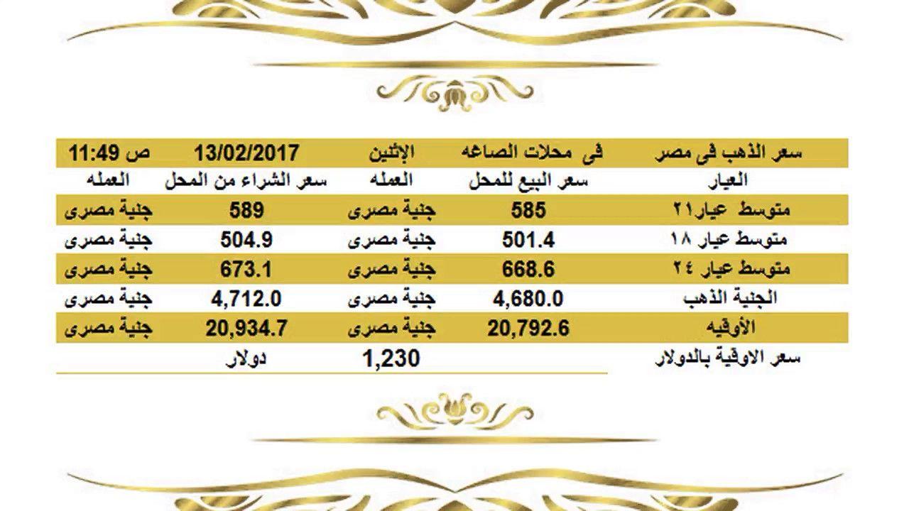 سعرالذهباليومفيمصرالاثنين1222017عيار21وعيار18وعيار24الساعة11 45صباحا اسعار الذهب اليوم فى مصر تحديث يومي اسعار الذهب فى مصر أسعار الذهب ال Gold Rate Jye Gold