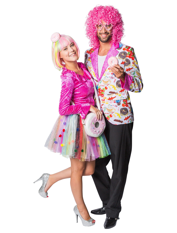 Cupcake Lady Candy Girl Damen Kostum Halloween Karneval Kleid