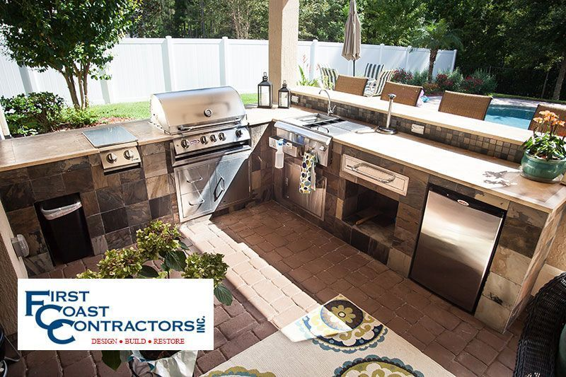 outdoor kitchens first coast contractors inc jacksonville