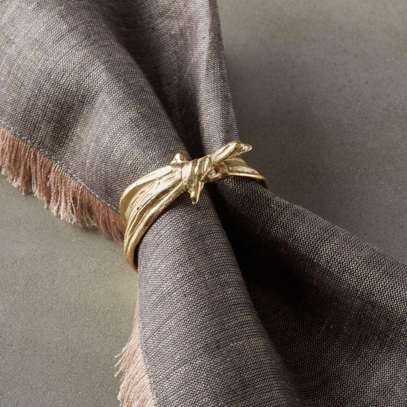 Sylvie Gold Napkin Ring   CB2 #napkinrings